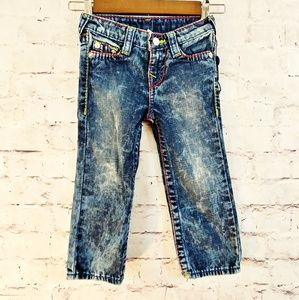 TRUE RELIGION Boys Straight Leg Stonewash Jeans